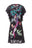 Womens Black/Multi Bird Tree Ruffle Lace Cheongsam