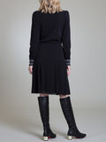Womens Black Smock Neck A-Line Dress   2