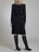 Womens Black Smock Neck A-Line Dress   2 Alternate View