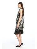 Womens Black Zig Zag Sequins Dress 2
