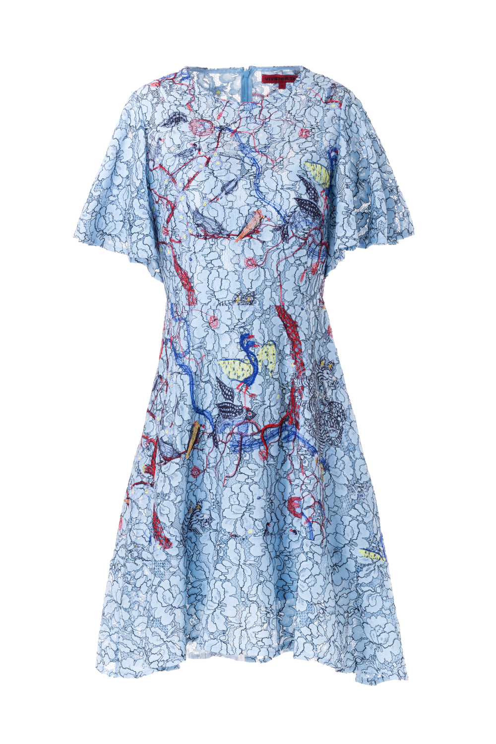 Womens Blue Multi Fantasyland Lace Dress
