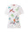 Womens Cream Multi Cream Bird Tree Embroidery Top