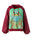 Womens Green/Burgundy Tara Mantra Hoodie