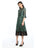 Womens Green Green Metallic Lace Dress 2 Alternate View