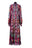 Womens Multi Tibetan Stripe Lace Maxi Dress