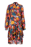 Womens Multi Tibetan Wild Flower Dress