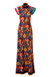 Womens Multi Tibetan Wild Flower Maxi Dress