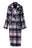 Womens Multi Plaid Wool Flannel Coat