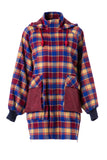 Womens Multi Plaid Wool Jacket
