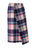 Womens Multi Plaid Wool Wrapped Skirt