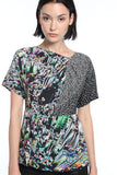 Womens Multi Hk Neon City Silk Top 6
