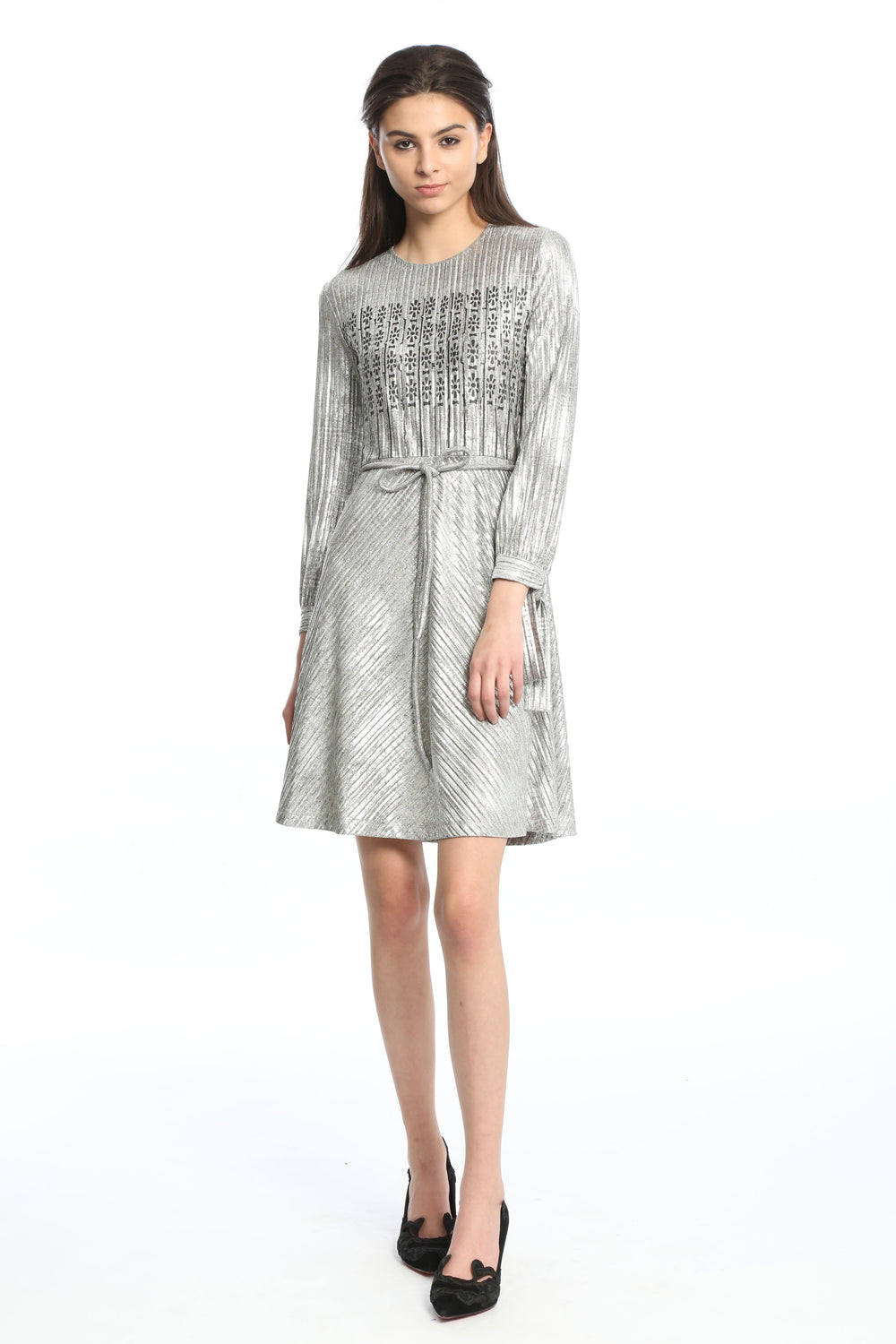 Womens Silver Gate Foiled Dress