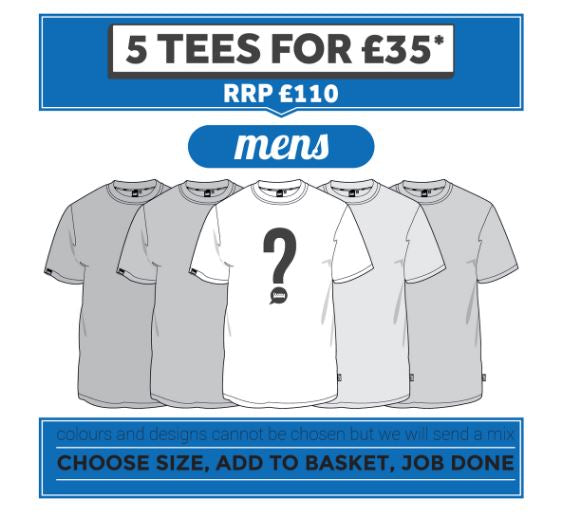 5 Tees for £35