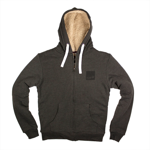 Plain Lazy Plain Lazy - Square Logo Charcoal Marl Mens Brrr Jacket