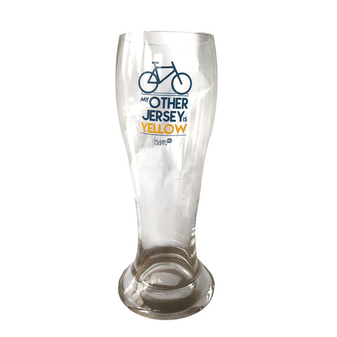 Plain Lazy Plain Lazy - My Other Jersey is Yellow Boxed Beer Glass