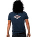 Diamond Logo Stone Washed Denim Mens Organic T Shirt (Back Print)