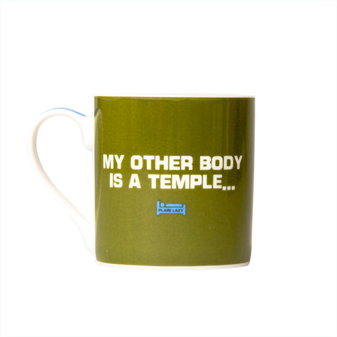 Plain Lazy My Other Body is a Temple Boxed Mug