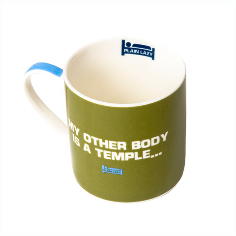 Plain Lazy - My Other Body is a Temple Boxed Mug