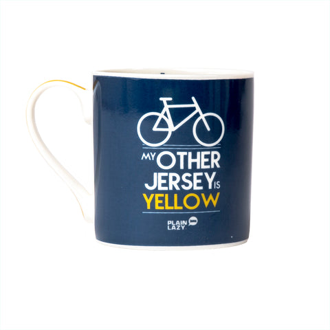 Plain Lazy My Other Jersey is Yellow Boxed Mug