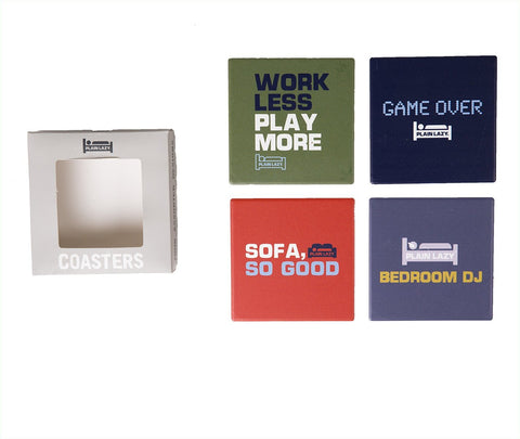 Plain Lazy Plain Lazy - 4 Pack Coaster Set