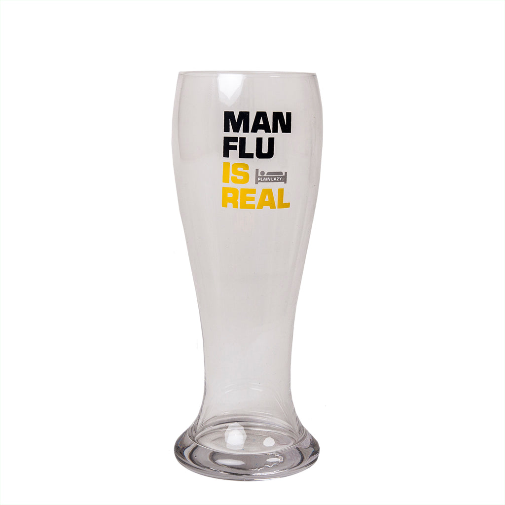 Plain Lazy Plain Lazy - Man Flu is Real Boxed Beer Glass