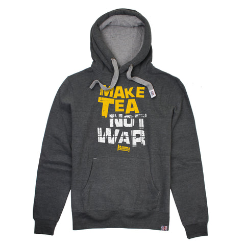 Plain Lazy Plain Lazy - Make Tea Not War Dark Heather Mens Hoodie