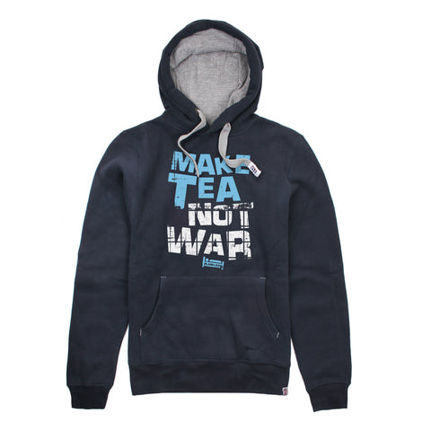 Plain Lazy Plain Lazy - Make Tea Not War Navy Mens Hoodie