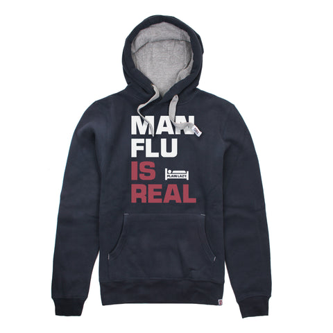 Plain Lazy Plain Lazy - Man Flu is Real Navy Mens Hoodie