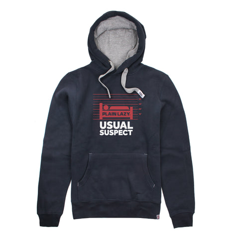 Plain Lazy Plain Lazy - Usual Suspect Navy Mens Hoodie