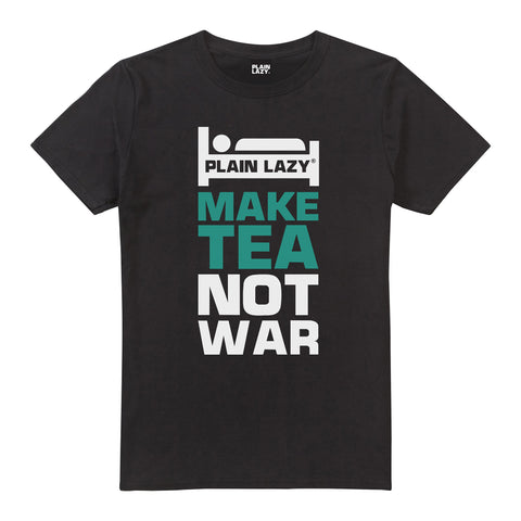 Plain Lazy Plain Lazy - Make Tea Not War Black Mens T Shirt