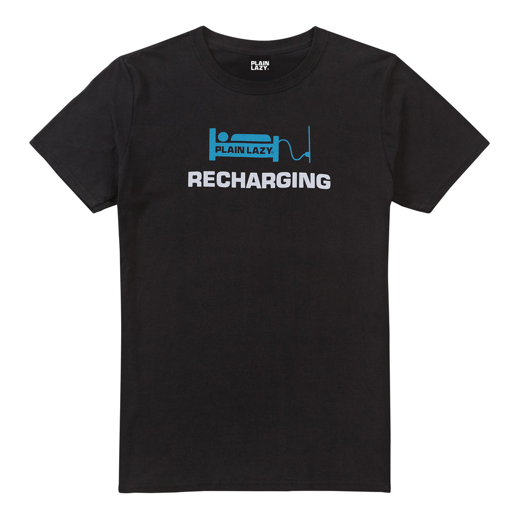 Plain Lazy Plain Lazy - Recharging Black Mens T Shirt