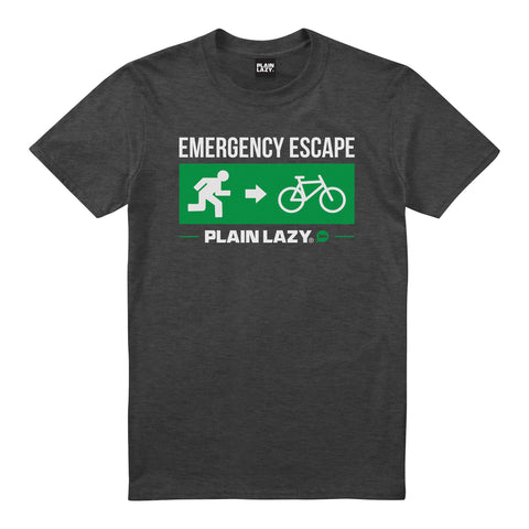 Plain Lazy Plain Lazy - Escape Bike Dark Heather Mens T Shirt