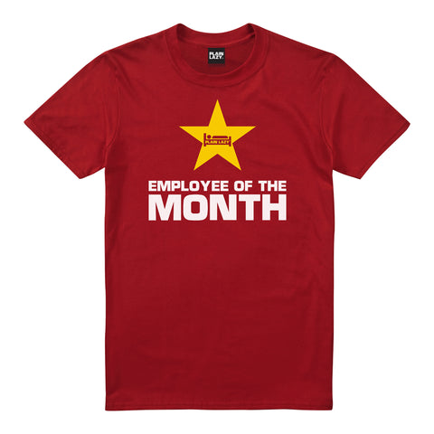 Plain Lazy Plain Lazy - Employee of the Month Red Mens T Shirt