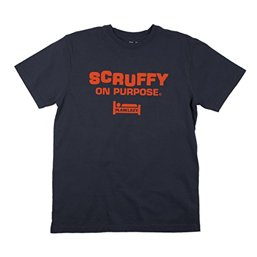 Plain Lazy Plain Lazy - Scruffy on Purpose Navy Mens T Shirt - S