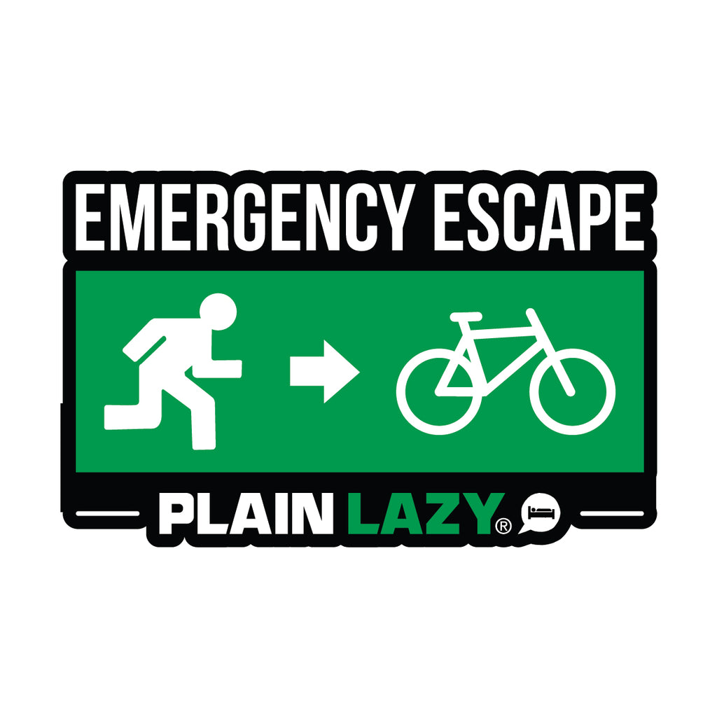 Plain Lazy Emergency Escape Sticker