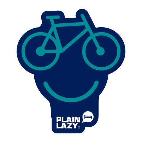 Plain Lazy Happy Bike Sticker
