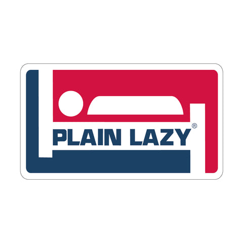 Plain Lazy Champion Sticker