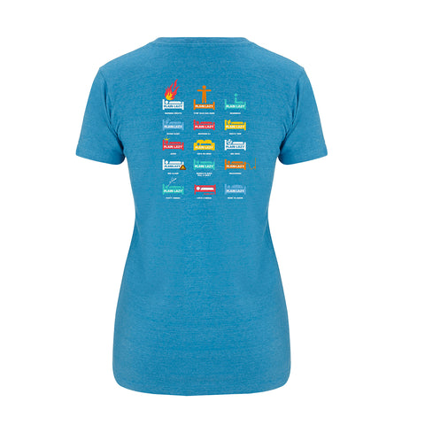 Plain Lazy Plain Lazy - Heritage Melange Mid Blue Womens Salvage T Shirt
