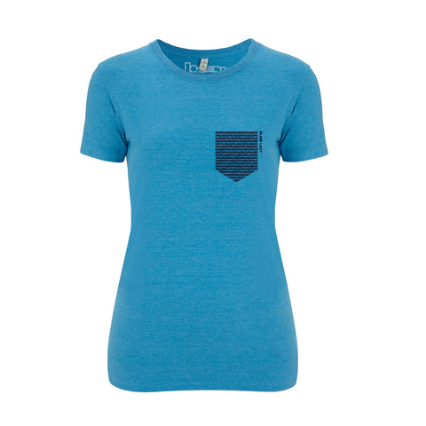 Plain Lazy Plain Lazy - No Pocket Melange Mid Blue Womens Salvage T Shirt