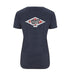 Plain Lazy Plain Lazy - Diamond Logo Navy Marl Womens Salvage T Shirt