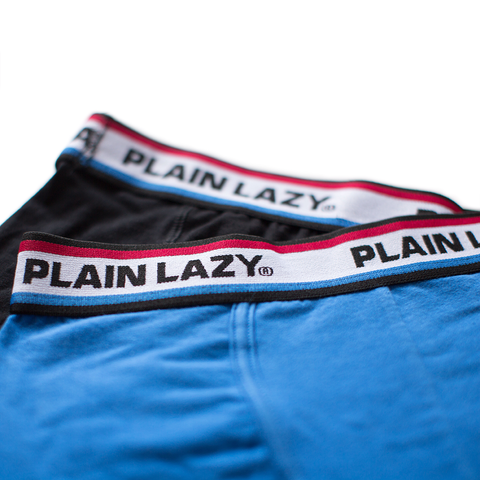 Plain Lazy Scruffy on Purpose / Plain Lazy 2 Pack Mens Boxer Shorts