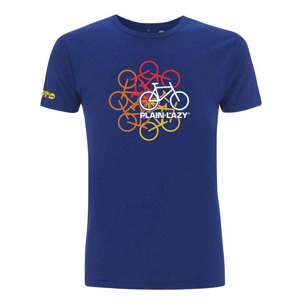 Plain Lazy Plain Lazy - Cycle of Life Midnight Blue Mens Bamboo T Shirt