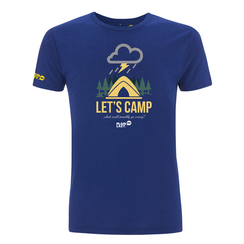 Plain Lazy Plain Lazy - Let's Camp Midnight Blue Mens Bamboo T Shirt