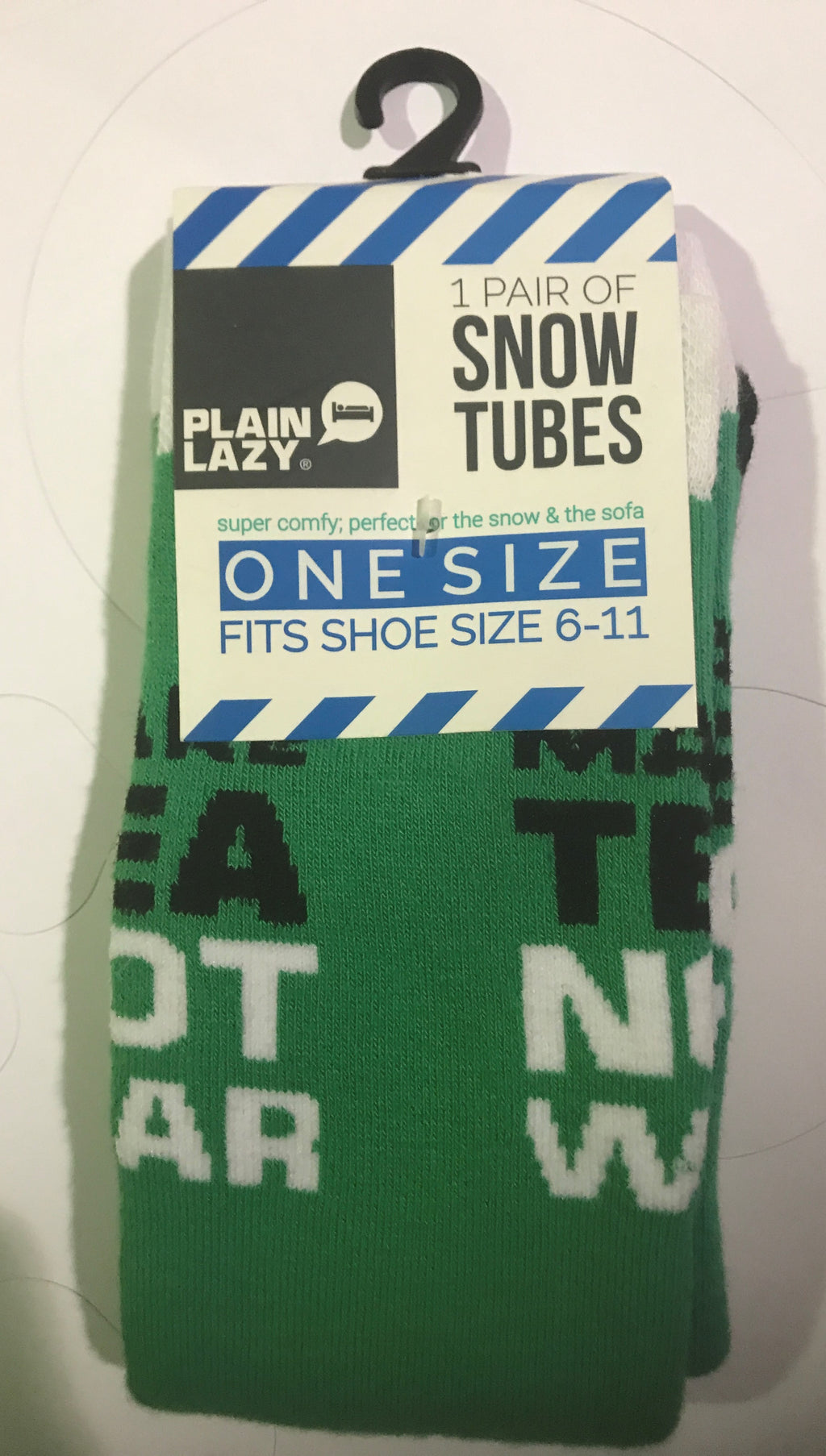 Plain Lazy Plain Lazy - Make Tea Not War Mens Snow Tubes - Pack of 2