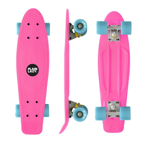 Plain Lazy Plain Lazy - Pink Retro Cruiser Complete Skateboard