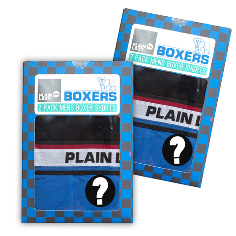 Plain Lazy - Mystery Mens Boxed Boxer Shorts - 2 Packs of 2 Pairs