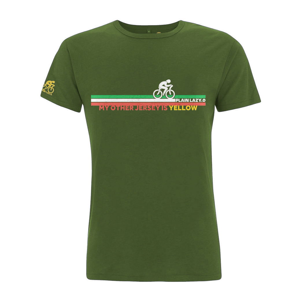 Plain Lazy Plain Lazy - My Other Jersey is Yellow Green Mens Bamboo T Shirt