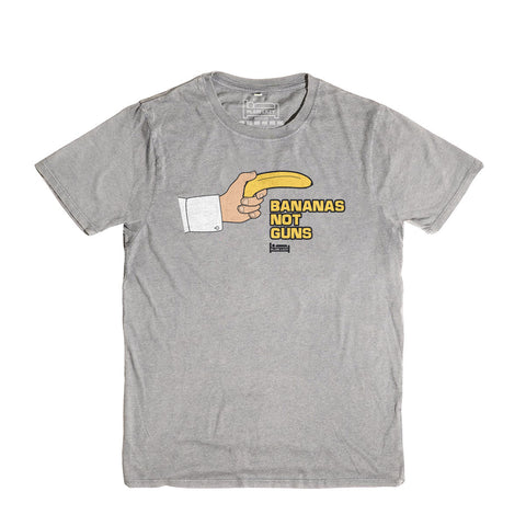 Plain Lazy Plain Lazy - Bananas Not Guns Melange Grey Classic Mens T Shirt