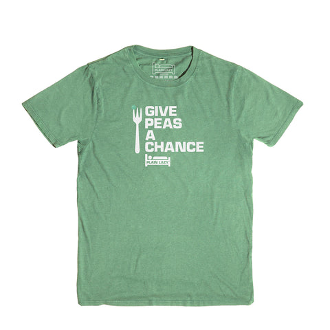 Plain Lazy - Give Peas a Chance Heather Irish Green Classic Mens T Shirt