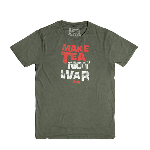 Plain Lazy - Make Tea Not War Heather Military Classic Mens T Shirt